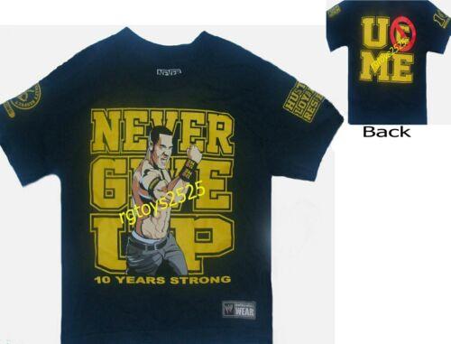 WWE John Cena Never Give Up t-Shirt Childs size 4-5 10-12 14-16 New Navy XS L XL