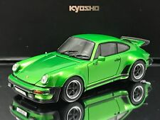 Kyosho Porsche 911 Turbo 1975 Metallic Green with Case and Stand 1/43