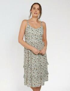 Fat-Face-Paige-Trailing-Floral-Dress-Natural-Ivory-UK-14-RRP-55