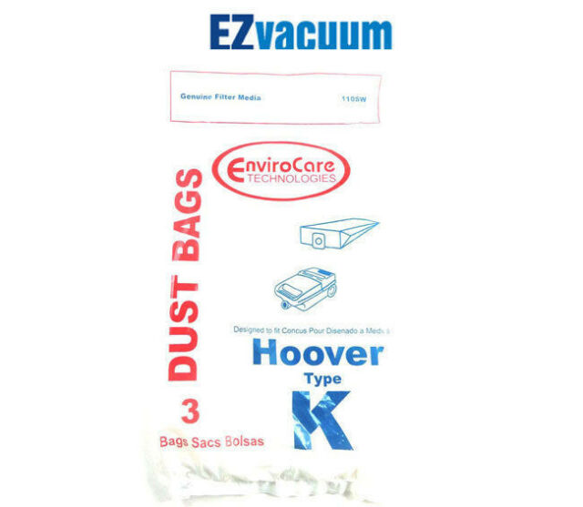 Hoover K Vacuum Cleaner Bags # 4010028K,  4010100K, H-4010100KES