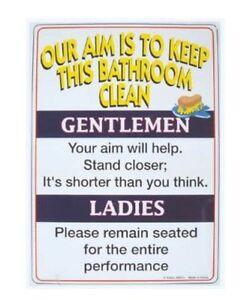 Bathroom Rules Tin Sign Funny Adult Potty Ebay
