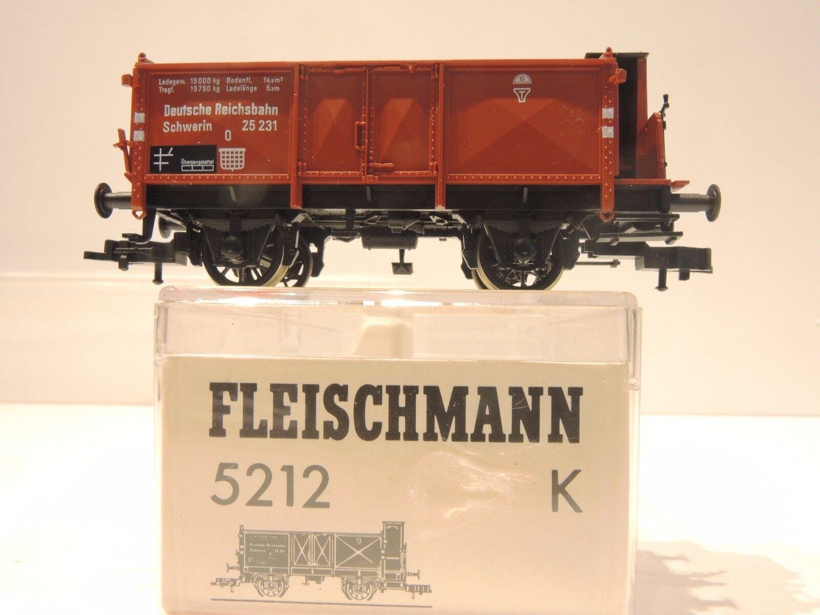 Fleischmann 5212 K ALTA BORDO carrello Schwerin    RP 25 raggi ruote    TOP    OVP
