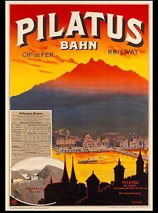 Villars-Bretaye Railway Ski Switzerland Vintage Travel Advertisement Art Poster