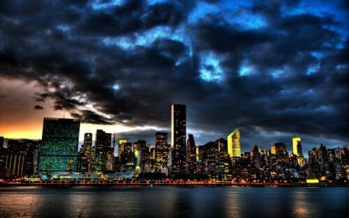 New York  Creative City canvas wall home Decor high quality Picture choose size