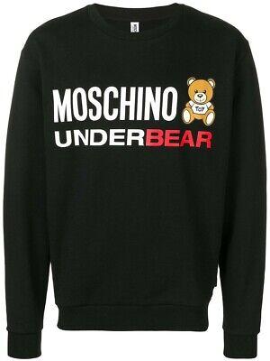 Moschino Unterwäsche Underbear Herren Teddy Logo Schwarzes Sweatshirt   eBay
