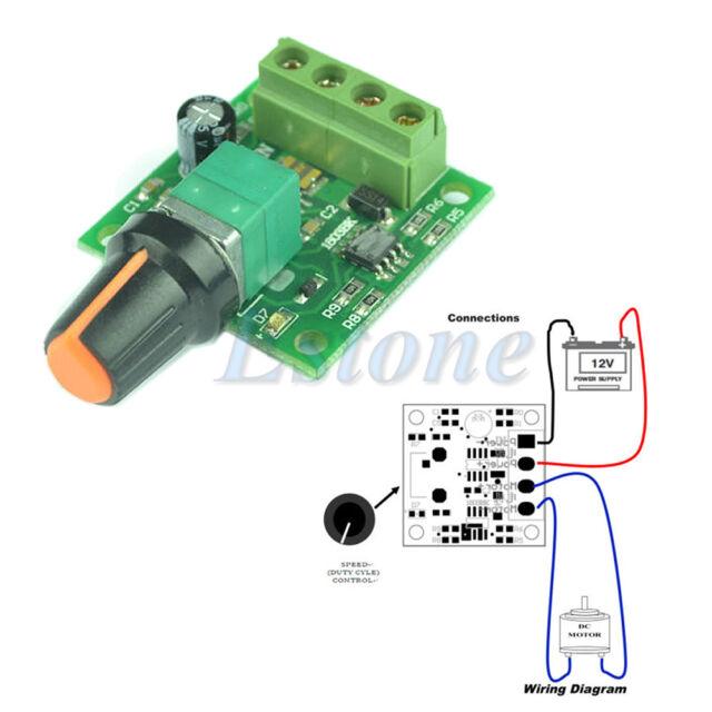 Practical DC 1.8V 3V 5V 6V 12V 2A Low Voltage Motor Speed Controller PWM 1803B