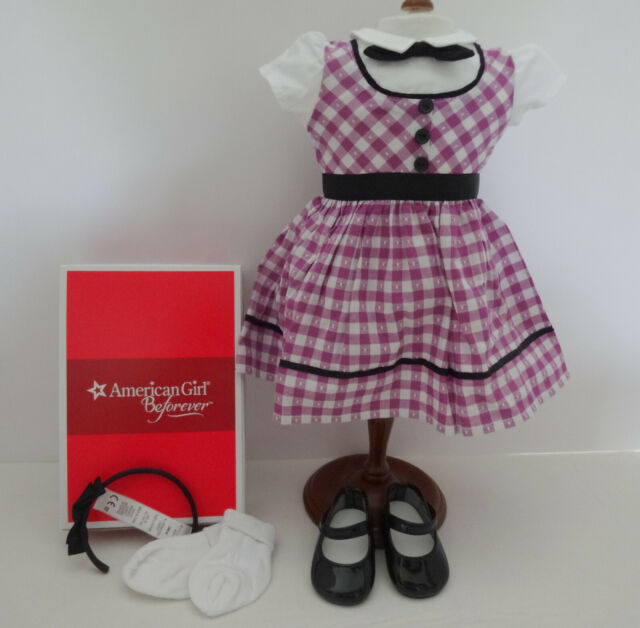 NEW American Girl Doll MARYELLEN ICE SKATING OUTFIT Dress Skates 1950s NIB