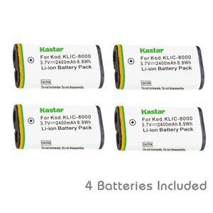 Amazon. Com: kastar battery (4-pack) for kodak klic-8000, k8000.