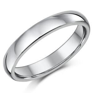 Titan Ehering Verlobungsring 4mm Ehering Herren Damen Ring Ebay