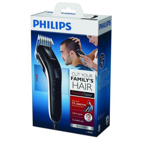 Philips QC5115//15 Series 3000 Haarschneider 11 Längen von 3 bis 21 mm Schwarz