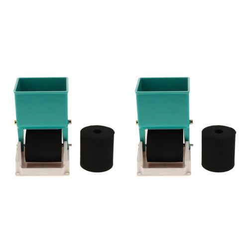 2x Professioneller Handstreuer Verstellbarer Applikator Leimroller