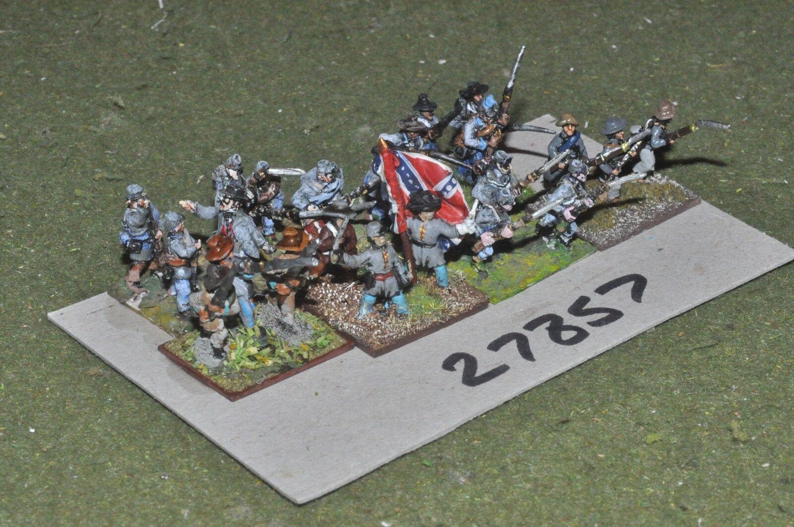 15mm ACW   confederate - regiment 24 figures - inf (27857)