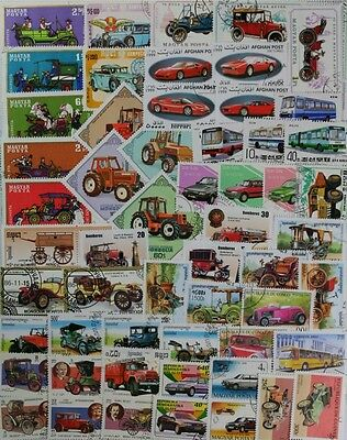 AUTOMOBILES, CARS, MOTOR VEHICLES nice stamp collection 200 different (lot#DP)