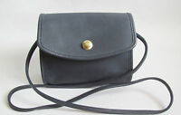 RARE Coach Dark Navy Blue Leather Shoulder Bag - Style # 0788 - 201 EXCELLENT