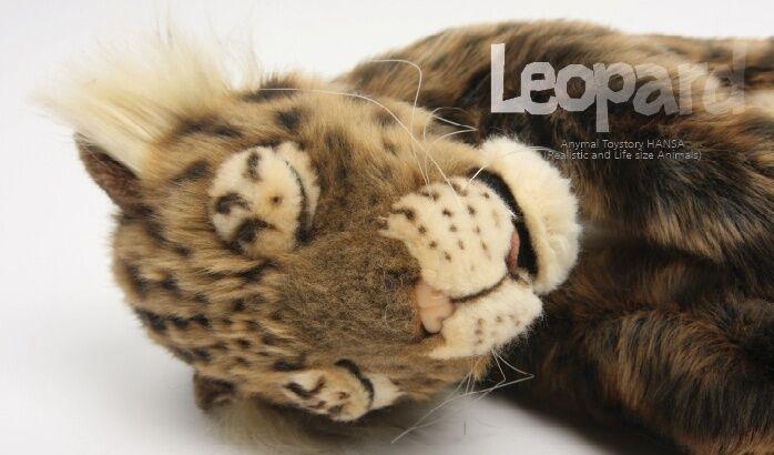 Miss oh/Stuffed Plush Soft Toy HANSA realistic 40cm.L  Leopard Cub Printed Sleep
