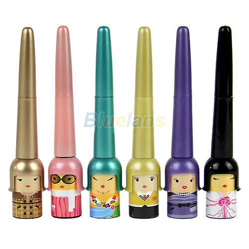 Cute Lucky Doll Black Waterproof Eyeliner Liquid Pen Makeup Cosmetic Tools B1CU