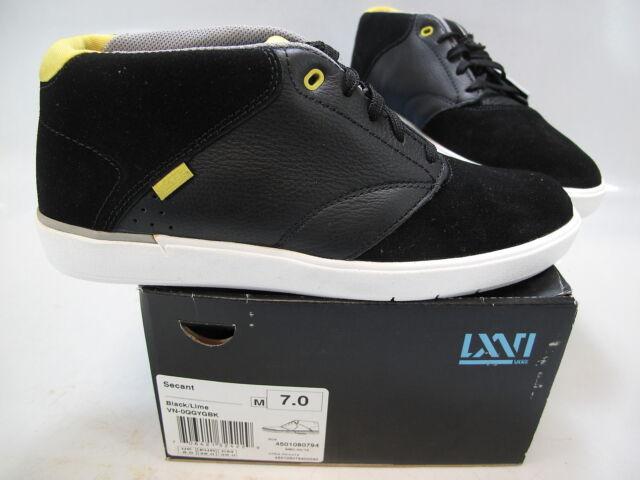85506bcbe7 VANS Mens LXVI Secant Black Lime Suede Casual Mid Top Skate Sneaker Size US  7