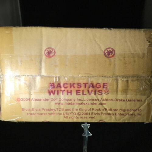 """Madame Alexander Porcelain Doll 14/"""" /""""Backstage with Elvis/"""" NIB Collectible"""