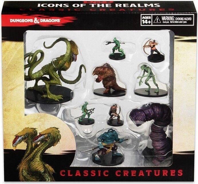 Ikoner av Realms KLASSIC CREATURES låda SET Dungeons &drakes Demogorgon PROMO