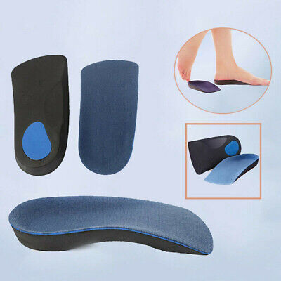 3//4 Orthotic Arch Support Pad Comfortable Shoes Insoles Inserts Flat Foot New