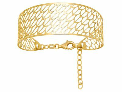 6,45 Grams Skilful Manufacture Bangle Openwork Gold Yellow 18k Motif Fantasy