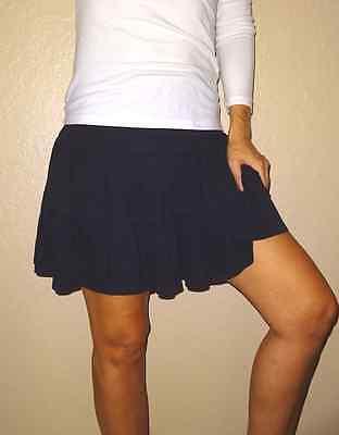 Old Navy black twirl cotton sexy womens jersey knit skirt small XS  OldNavy