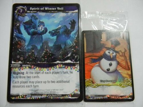 Feast of Winter Veil Complete Card Series 2012 World of Warcraft Tcg