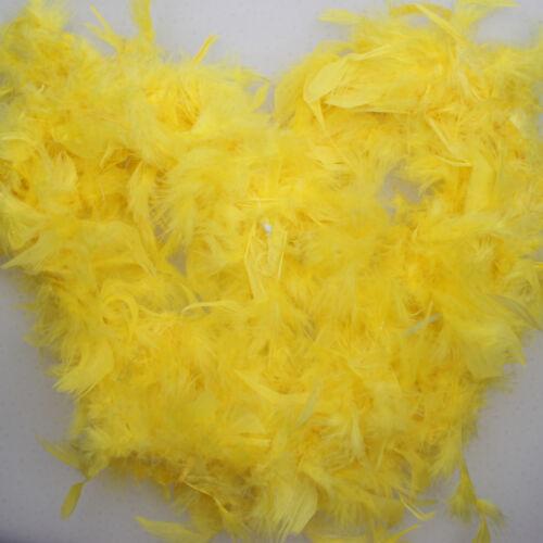 2M Feather Boa Strip Fluffy Craft Costume Fancy Dress Wedding Party Decoration
