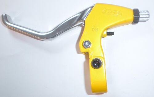 ANODIZED YELLOW//SILVER CUSTOM LOW RIDER BICYCLE BRAKE LEVER PART 509