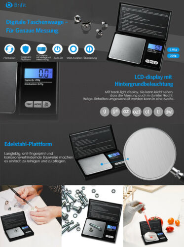 0.01//0.001-50//200g Electronic Digital Balance Kitchen Jewelry Gram Weight Scale
