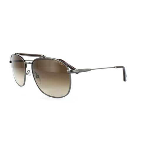Tom Ford Sunglasses 0339 Marlon 09F Matt Gunmetal Brown Brown Gradient