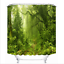 """Flamingo Forest Beach Scenery 72//79/"""" Shower Curtain Polyester Waterproof Fabric"""