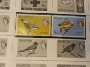 Lot-of-7-Mauritius-Stamps-Birds-Fish-Birth-of-Prince-William