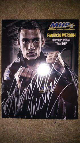 FABRICIO WERDUM UFC MMA SIGNED PROMO 9X11 PHOTO