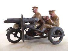 BRITAINS 'DEPOSE' VINTAGE LEAD MACHINE GUN CORPS MOTORCYCLE & SIDECAR. SET 199