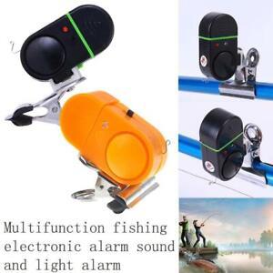 LED Light Electronic Fish Bite Sound Alarm Alert Bell Clip On Fishing Rod NEW