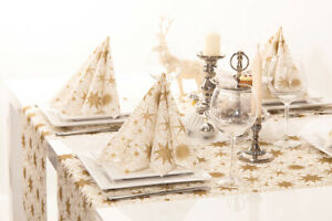 1-Tischlaeufer-Christmas-Dreams-in-Gold-Weiss-aus-Linclass-Airlaid-40cm-x-4-80m