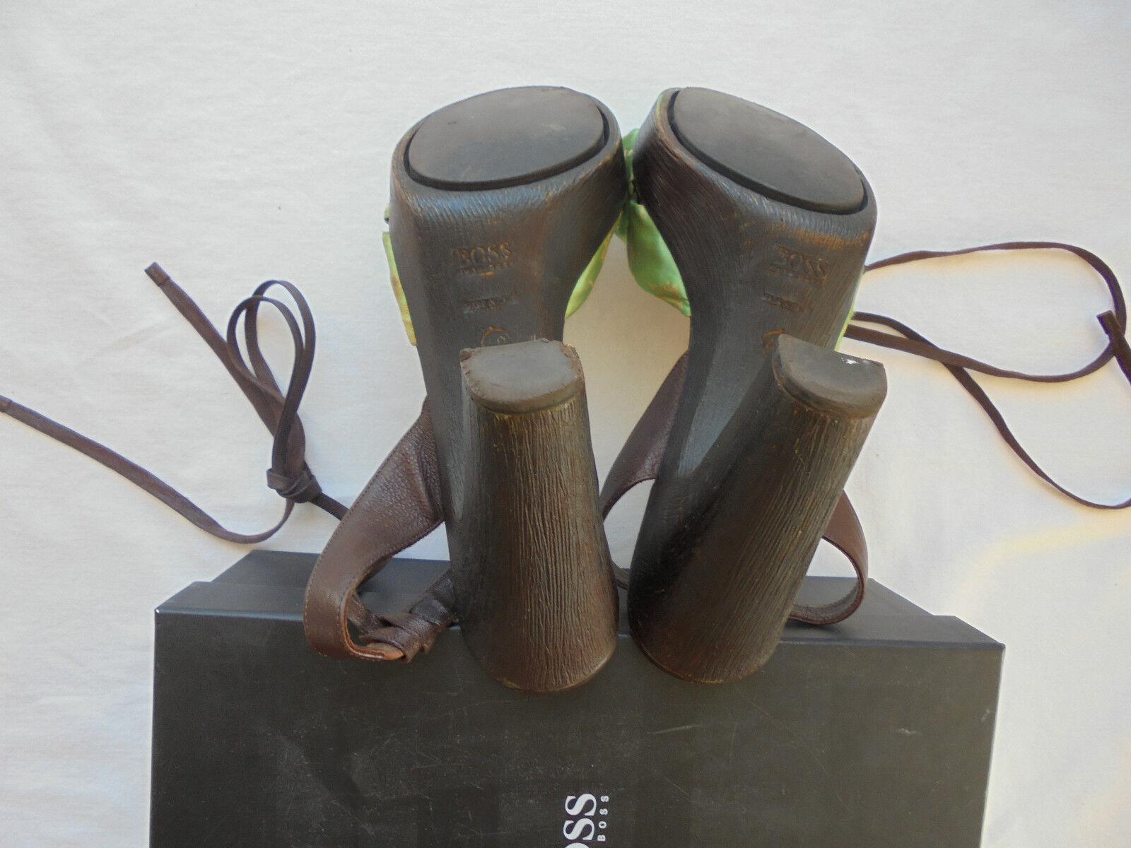 Hugo Boss Leder Seide High Heels NP: Schuhe  TOP Clogs Sandalen Schuhe NP: Pumps Gr. 40 be668d