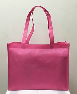 SHOPPING BAGS ECO FRIENDLY REUSABLE GIFT PROMO BAG MED WHOLESALE 100 PCS IN PINK