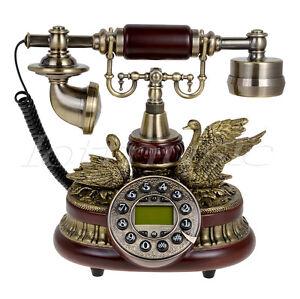 159a ceramic retro vintage antique telephone push button dial desk phone decor ebay. Black Bedroom Furniture Sets. Home Design Ideas