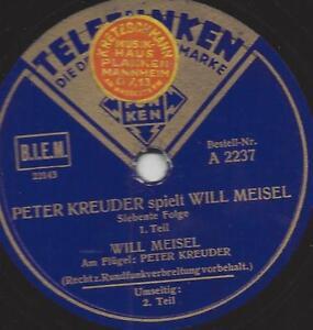 Peter Kreuder spielt Will Meisel, siebente Folge - <span itemprop=availableAtOrFrom>Neckarsteinach, Deutschland</span> - Widerrufsbelehrung Widerrufsrecht Sie haben das Recht, binnen vierzehn Tagen ohne Angabe von Gründen diesen Vertrag zu widerrufen. Die Widerrufsfrist beträgt vierzehn Tage ab dem Ta - Neckarsteinach, Deutschland