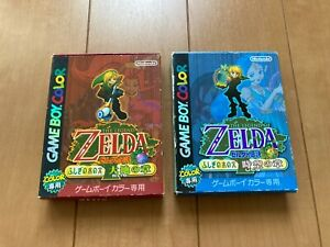 Legend-of-Zelda-Oracle-of-Seasons-and-Ages-with-BOX-and-Manual-japan-Gameboy