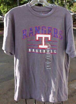 Weitere Ballsportarten Texas Rangers Baseball Mlb Herren Cooperstown Sammlung Grau T-shirt Nwt Hoher Standard In QualitäT Und Hygiene Fanartikel