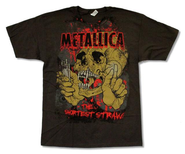"METALLICA  ""SHORTEST STRAW"" BROWN T-SHIRT NEW OFFICIAL ADULT"