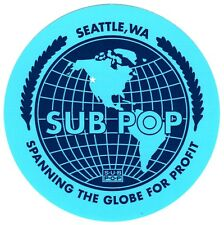 SUB POP Record Label Ltd Ed RARE Sticker! FLEET FOXES SLEATER-KINNEY BEACH HOUSE