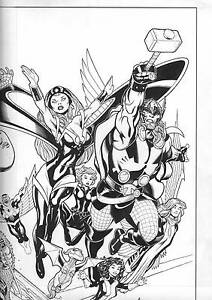 Details about Avengers Plus X-Men #2 1:50 Ed McGuinness Sketch Variant  Marvel Comic Book