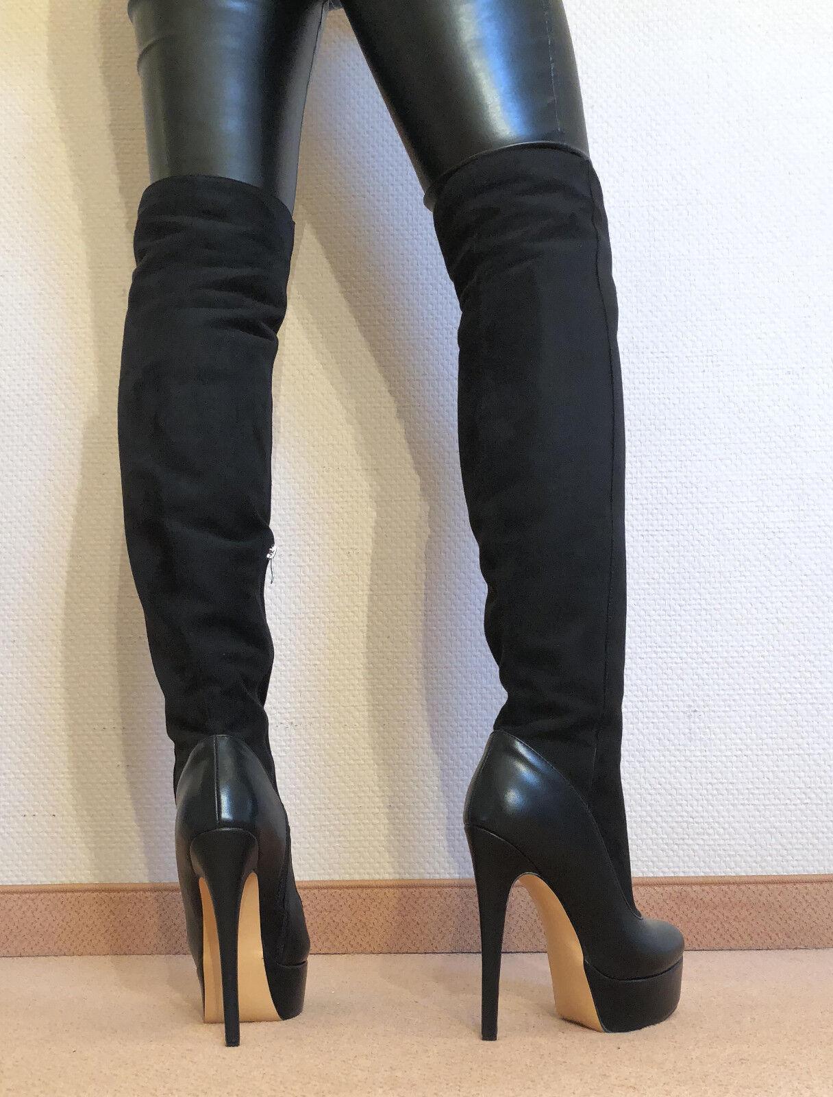 Taille 46 Top  en Exclusivité Sexy Chaussures Femmes Cuissardes Stiletto Bottes Hommes bottes d2