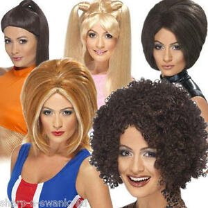 Ladies-Posh-Ginger-Baby-Scary-Sporty-Spice-Girls-Fancy-Dress-Costume-Outfit-Wig