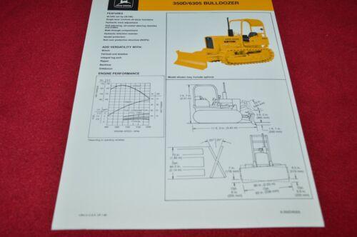 John Deere 350D Crawler Tractor 6305 Bulldozer Dealer/'s Brochure YABE14