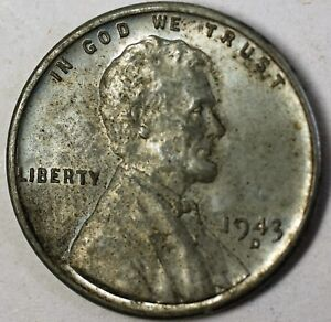 Details about 1943-D Steel Cents Almost Uncirculated Coins 50 Lincoln  Uncleaned Pennies